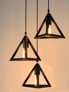 چراغ آویز طرح هرم روشنایی تابش