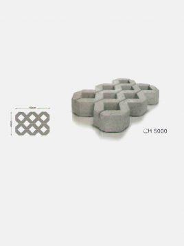 ghasre mosaic concrete tile CH5000 268x358 - تایل بتنی چمنی قصر موزاییک