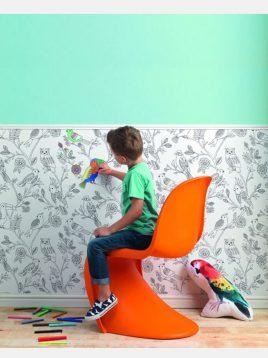 کاغذ دیواری راش طرح b کودک و نوجوان
