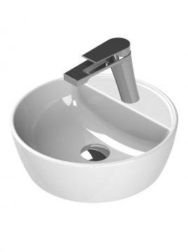 Cerastyle Drop In Sinks One model circle with faucet hole 2 268x358 - کاسه روشویی مدل وان دایره ای با محل نصب شیر