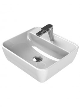 Cerastyle Drop In Sinks One model x with faucet hole 2 268x358 - کاسه روشویی مدل وان مستطیل با محل نصب شیر