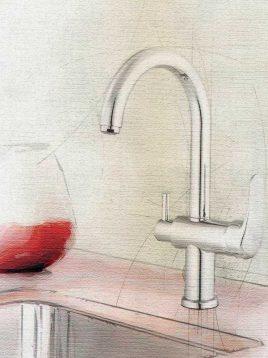 شیر آشپزخانه دوکاره کلار مدل دریا-آریا
