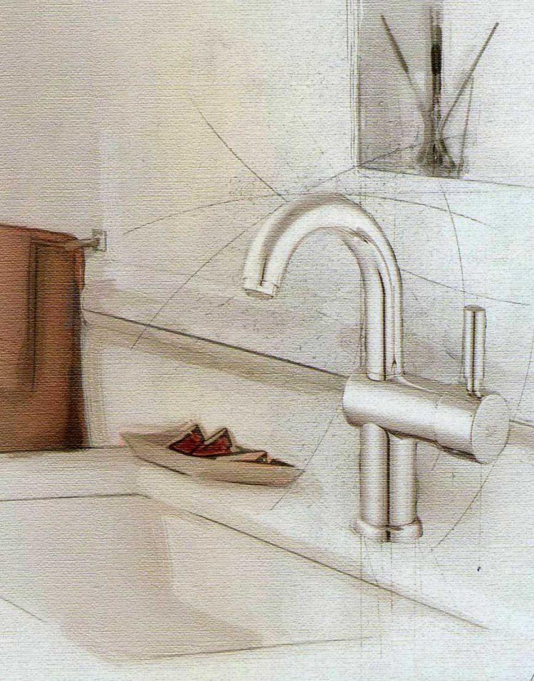 شیر روشویی علم دار کلار مدل آبشار