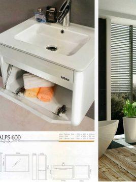 Lotus Bathroom vanities Alps 600 model2 268x358 - ست روشویی کابینت و آینه حمام مدل آلپس۶۰۰
