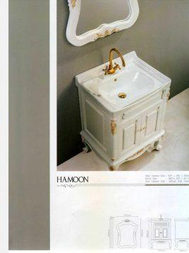 Lotus Bathroom vanities Hamoon Classic model2 268x358 - ست روشویی کابینت و آینه حمام مدل هامون کلاسیک