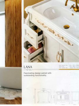 Lotus Bathroom vanities Lana Classic model2 268x358 - ست روشویی کابینت و آینه حمام لانا کلاسیک