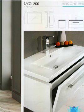 Lotus Bathroom vanities Leon800 model2 268x358 - ست روشویی کابینت و آینه حمام مدل لئون۸۰۰