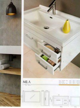 Lotus Bathroom vanities Mila model2 268x358 - ست روشویی کابینت و آینه حمام مدل مدرن میلا