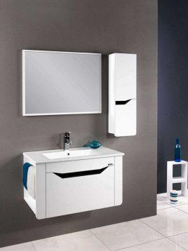 Lotus Bathroom vanities Monica800 model1 268x358 - ست کابینت روشویی لوتوس و آینه مدل مونیکا ۸۰۰
