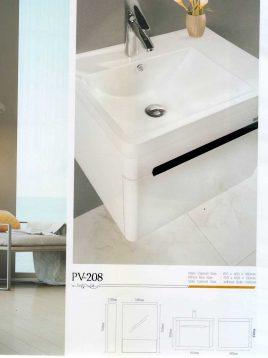 Lotus Bathroom vanities PV 208 model2 268x358 - ست روشویی کابینت و آینه حمام مدلPV-208