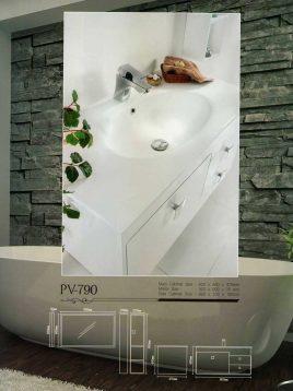 Lotus Bathroom vanities PV 790 model2 268x358 - ست روشویی کابینت و آینه حمام مدل مدرن PV-790