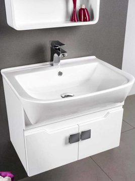 Lotus Bathroom vanities PV309 model2 268x358 - ست روشویی کابینت و آینه حمام مدلPV309