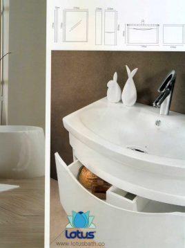 Lotus Bathroom vanities PV4000 model2 268x358 - ست روشویی کابینت و آینه حمام مدل مدرن PV4000