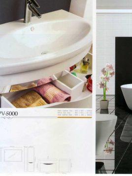 Lotus Bathroom vanities PV5000 model2 268x358 - ست روشویی کابینت و آینه حمام مدل مدرن PV5000