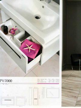 Lotus Bathroom vanities PV7000 model2 268x358 - ست روشویی کابینت و آینه حمام مدلPV7000