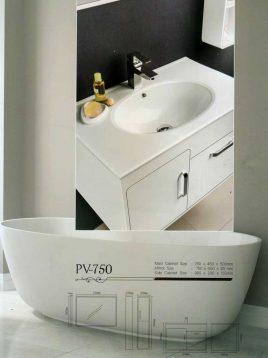Lotus Bathroom vanities PV750 model2 268x358 - ست روشویی کابینت و آینه حمام مدلPV750
