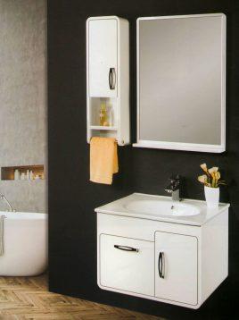 Lotus Bathroom vanities PV760 model1 268x358 - ست روشویی کابینت و آینه حمام مدلPV760