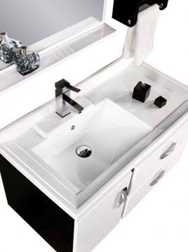 Lotus Bathroom vanities PV901 model2 268x358 - ست روشویی کابینت و آینه حمام مدلPV901