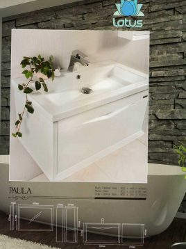 Lotus Bathroom vanities Paula model2 268x358 - ست روشویی کابینت و آینه حمام مدل پائولا