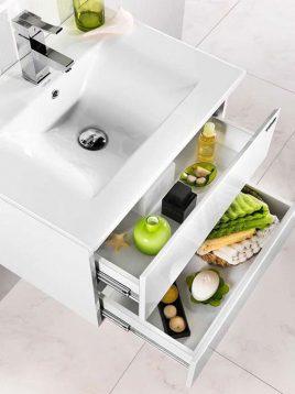 Lotus Bathroom vanities Sezar600 model2 268x358 - ست روشویی کابینت و آینه حمام مدل سزار۶۰۰