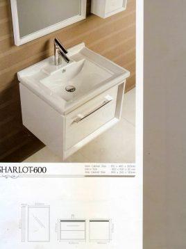 Lotus Bathroom vanities Sharlot 600 model2 268x358 - ست روشویی کابینت و آینه حمام مدل شارلوت۶۰۰