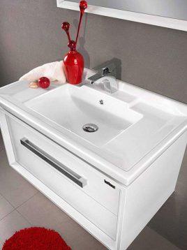 Lotus Bathroom vanities Sharlot 800 model2 268x358 - ست روشویی کابینت و آینه حمام مدل شارلوت۸۰۰