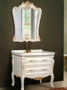 Lotus Bathroom vanities Venice Classic model1 268x358 - ست کابینت روشویی لوتوس و آینه مدل ونیز کلاسیک