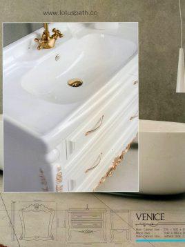 Lotus Bathroom vanities Venice Classic model2 268x358 - ست روشویی کابینت و آینه حمام مدل ونیز کلاسیک
