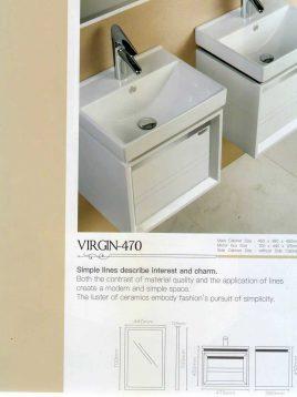 Lotus Bathroom vanities Virgin 470 model2 268x358 - ست روشویی کابینت و آینه حمام مدل مدرن ویرجین۴۷۰