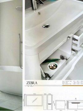 Lotus Bathroom vanities Zebra model2 268x358 - ست روشویی کابینت و آینه حمام مدل مدرن زبرا