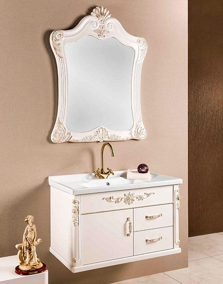 ست کابینت روشویی لوتوس و آینه مدل کلاسیک۲۲