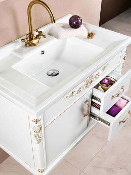 Lotus Bathroom vanities classic 22 model2 268x358 - ست روشویی کابینت و آینه حمام مدل کلاسیک۲۲