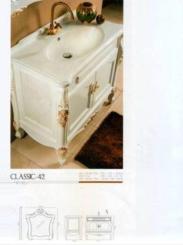 Lotus Bathroom vanities classic 42 mode2 268x358 - ست روشویی کابینت و آینه حمام مدل کلاسیک۴۲