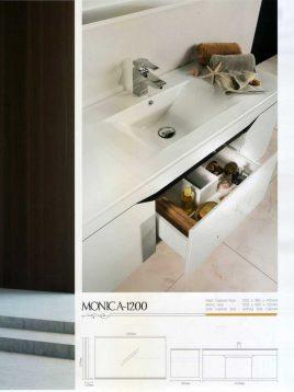 Lotus Bathroom vanities monica1200 model2 268x358 - ست روشویی کابینت و آینه حمام مدل مدرن مونیکا۱۲۰۰