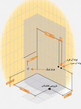 Persianstandard Enclosures Stalls Ayris2 268x358 - کابین سونا آیریس