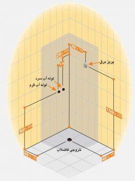 Persianstandard Shower Stalls Dayana2 268x358 - کابین دوش دایانا