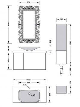 Samsangan Bathroom vanities Breeze model2 268x358 - ست روشویی لوکس مدل بریز