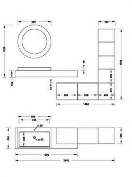 روشویی لوکس مدل پیانو