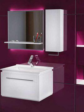 Verta Bathroom vanities Flora2 1 268x358 - ست روشویی کابینت ورتا و آینه  مدل فلورا۲