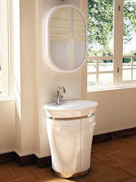 Verta Bathroom vanities silver1 268x358 - ست روشویی کابینت و آینه حمام مدل سیلور