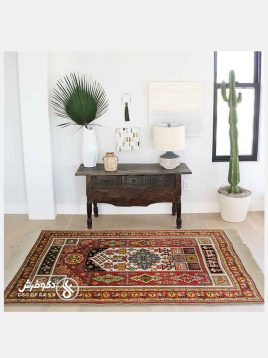 deco carpet Qashqai handmade new texture rug 268x358 - قالیچه دستبافت قشقایی جدید دکو فرش