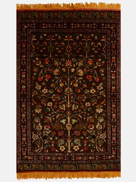 قالیچه گل ابریشم درختی دکو فرش