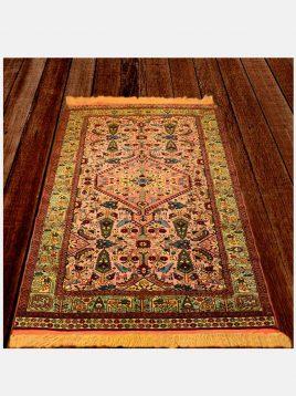 قالیچه نو بافت گل ابریشم دکو فرش