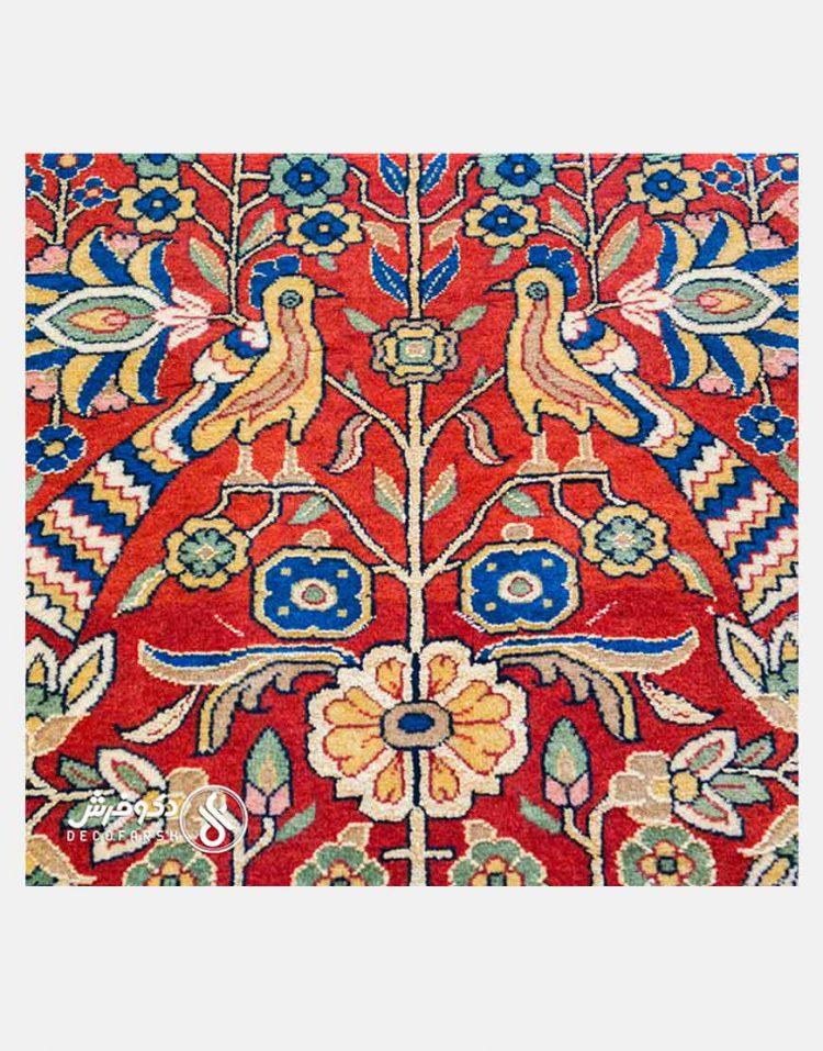 قالیچه گل ابریشم دکو فرش