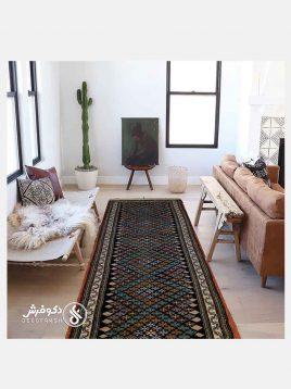 قالیچه کناره دستباف پشمی دکو فرش