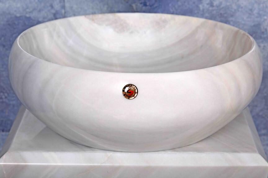 donati sefid - کاسه روشویی سنگی سن سینک مدل دوناتی -  - drop-in-sinks