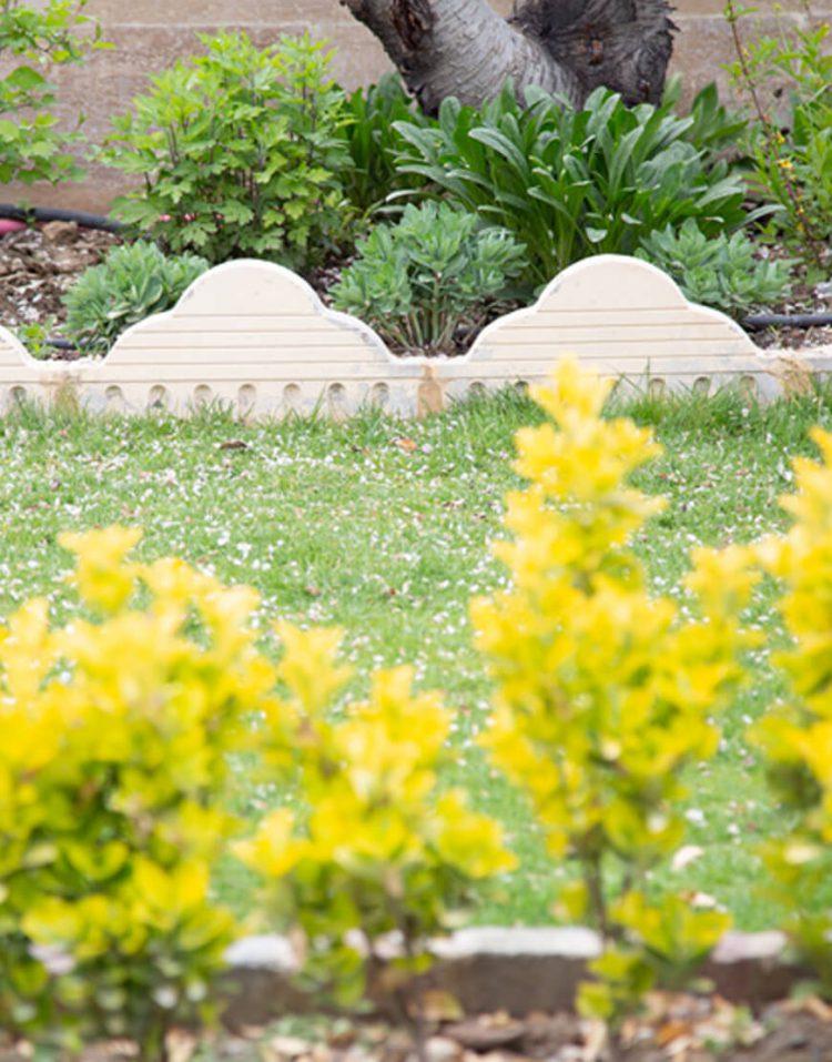 جدول دور باغچه ای گنبدی قصر موزاییک