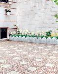 موزاییک واش بتن مشهد ۴۰ در ۴۰ قصر موزاییک