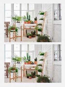 ikea base bamboo two floors plant stands 1 268x358 - استند گلدان دو طبقه با پایه بامبو ایکیا