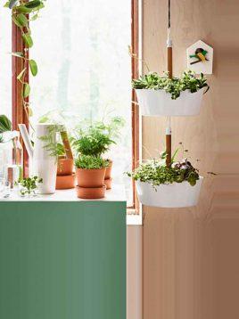 ikea hanging wooden knob vases 1 268x358 - گلدان ایکیا مدل BITTERGURKA